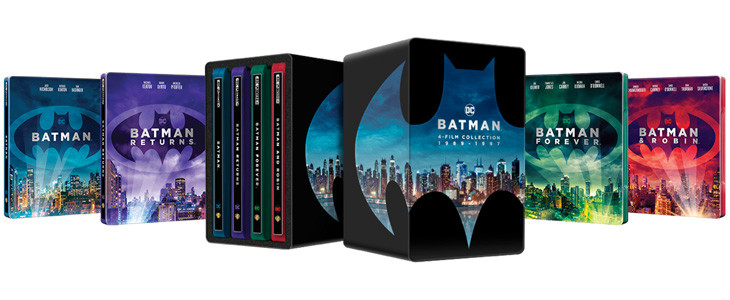 Batman 4 Films Collection 1989 - 1997 en coffret Steelbook Blu-ray 4K Ultra HD