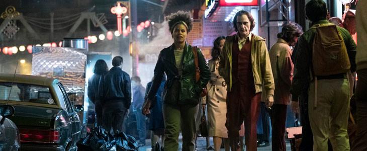 Zazie Beetz et Joaquin Phoenix, dans Joker.