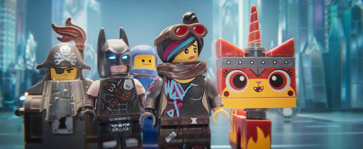 Batman Lego, Benny, Lucy et Ultrakatty dans La Grande Aventure Lego 2