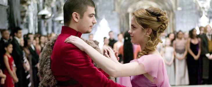Stanislav Ianevski et Emma Watson dans Harry Potter et la Coupe de Feu