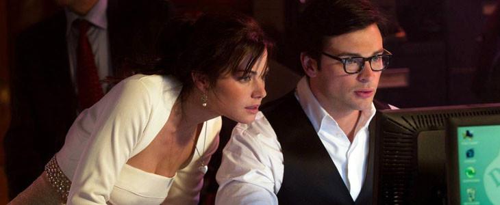 Erica Durance et Tom Welling dans la série Smallville