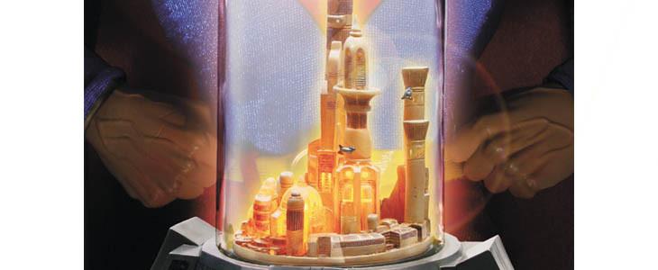 Kandor sous la bouteille de verre