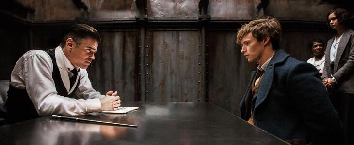 Colin Farrell et Eddie Redmayne dans Les Animaux Fantastiques