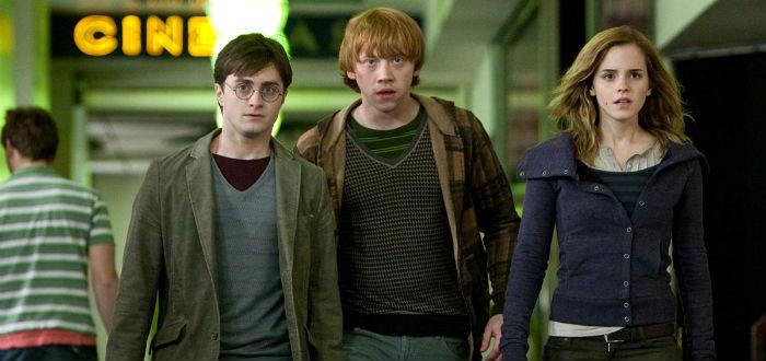 Daniel Radcliffe, Rupert Grint et Emma Watson dans Harry Potter et les Reliques de la Mort