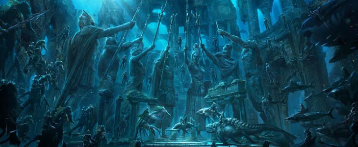 Les statues des rois des sept royaumes dans Aquaman