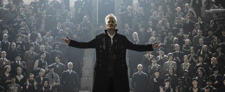 Johnny Depp dans Les Animaux fantastiques : Les Crimes de Grindelwald