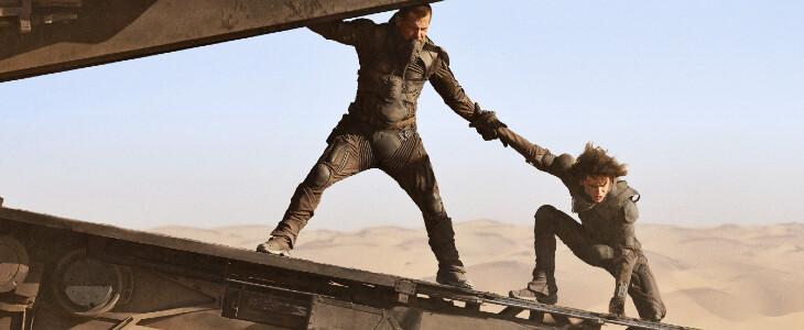 Gurney Halleck (Josh Brolin) et Paul Atréides (Timothée Chalamet)