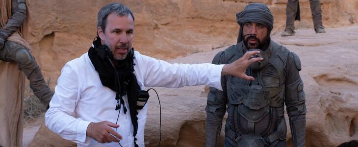 Denis Villeneuve sur le tournage de Dune.