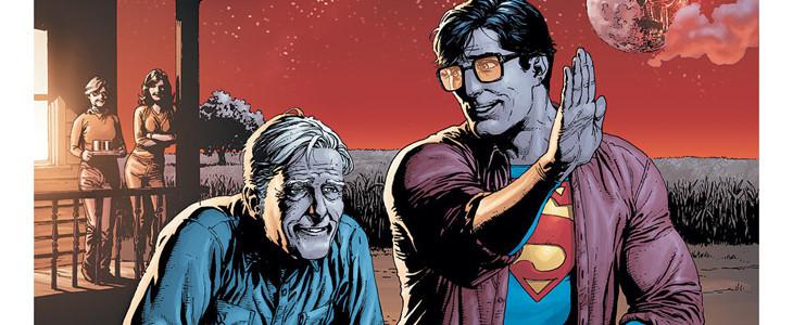 Jonathan Kent et son fils Clark, alias Superman