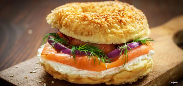 Bagel saumon cream cheese