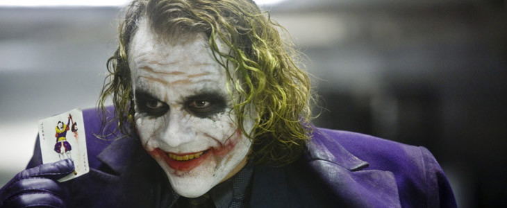 Heath Ledger dans le rôle du Joker dans The Dark Knight