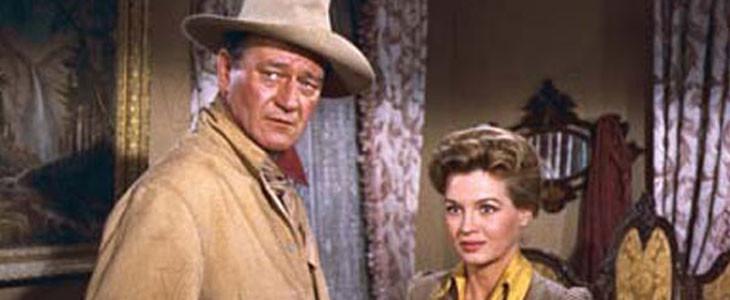 Rio Bravo - John Wayne et Angie Dickinson