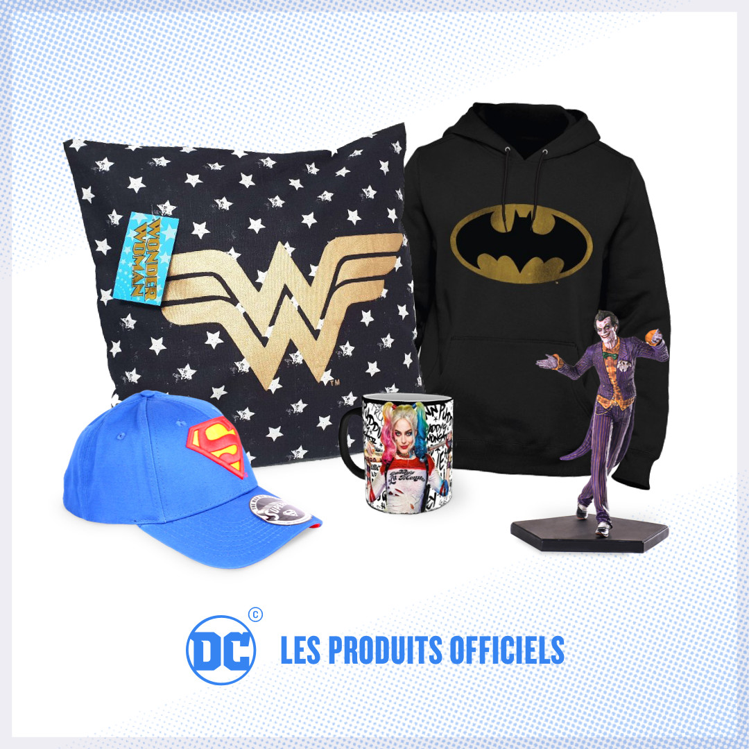 Retrouvez les produits officiels Batman, Wonder Woman, Superman et de tous les super héros DC dans la boutique officielle DC Comics
