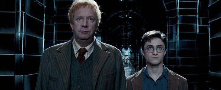 Mark Williams et Daniel Radcliffe dans la saga Harry Potter