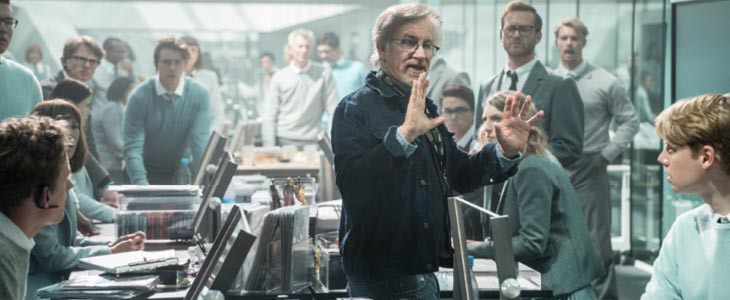 Steven Spielberg sur le tournage de Ready Player One