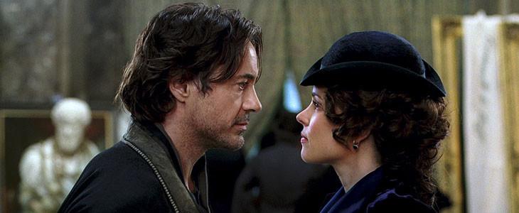 Robert Downey Jr. et Rachel McAdams dans Sherlock Holmes