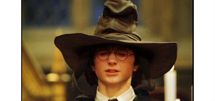 Harry Potter avec le choixpeau magique