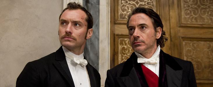 Robert Downey Jr. et Jude Law dans Sherlock Holmes