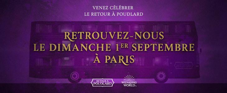 Retour à Poudlard - Le Magicobus à Paris