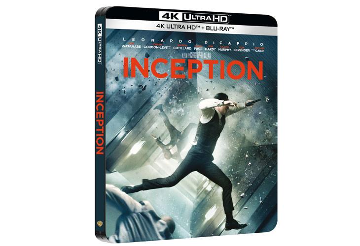 Inception sort en Blu-Ray Steelbook 4K Ultra HD.