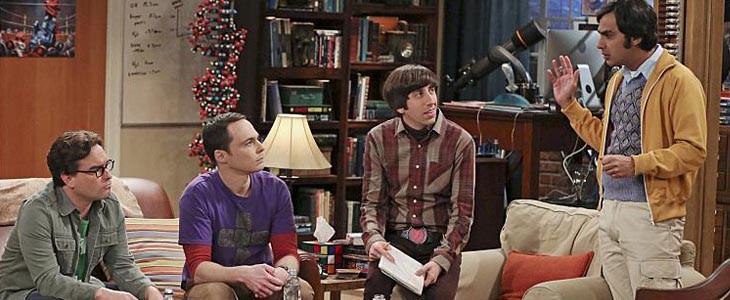 Sheldon, Leonard, Howard et Raj dans TBBT