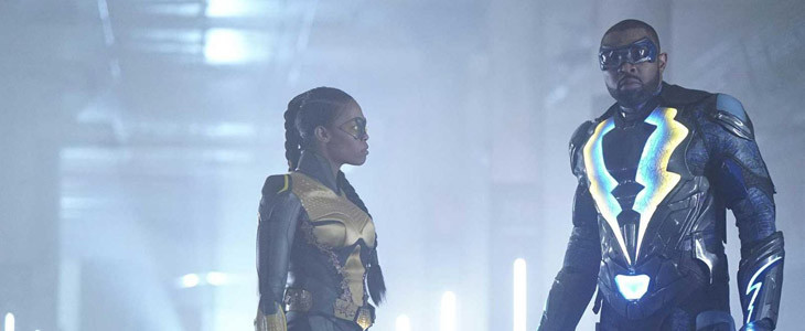 Nafessa Williams et Cress Williams dans Black Lightning