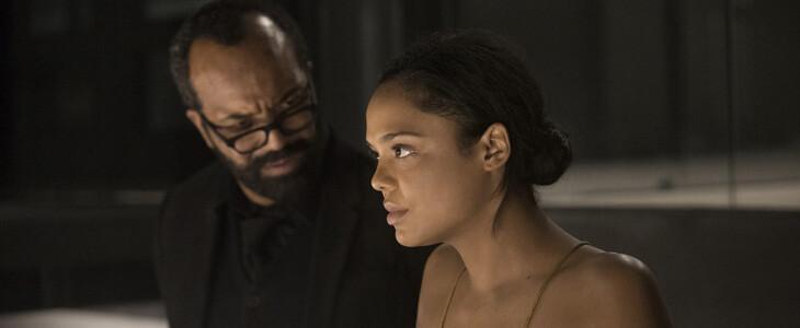 Tessa Thompson et Jeffrey Wright dans la saison 2 de Westworld