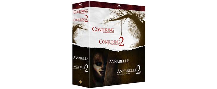 Coffret Noël Conjuring 1 et 2, Annabelle 1 et 2.