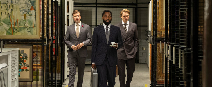 John David Washington, Robert Pattinson dans Tenet