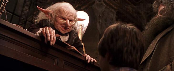 Le gobelin Gripsec dans Harry Potter à l'école des sorciers