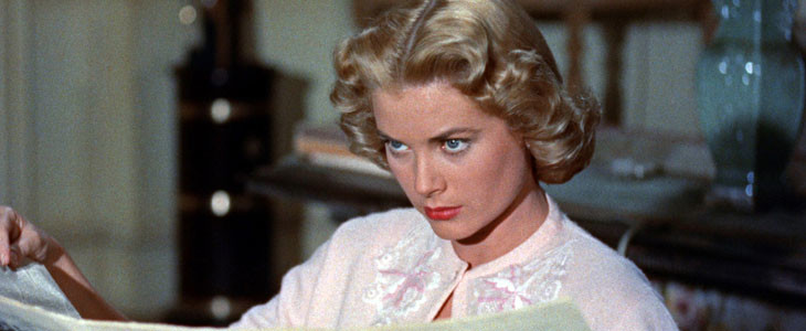 Grace Kelly, dans Le Crime était presque parfait.